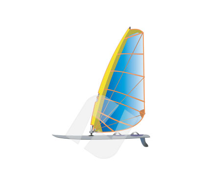 Sports: Windserfer Clip Art #00265