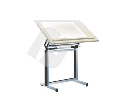 Drafting Desk Vector Clip Art