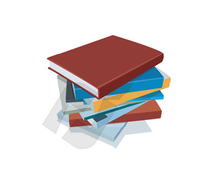 Education and Training: Pile of Books Vector Clip Art #00269