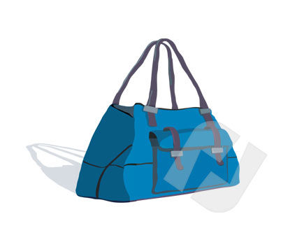 Carrier Bag Vector Clip Art, 00272, Objects and Equipment — PoweredTemplate.com