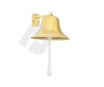 Ship`s Bell Vector Clip Art, 00274, Objects and Equipment — PoweredTemplate.com