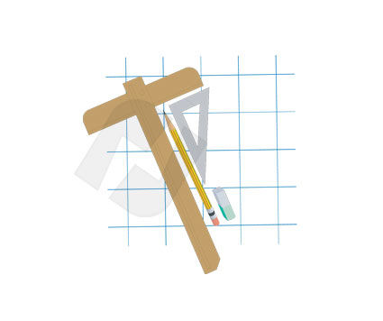 Drawing Tools Vector Clip Art, 00275, Education and Training — PoweredTemplate.com