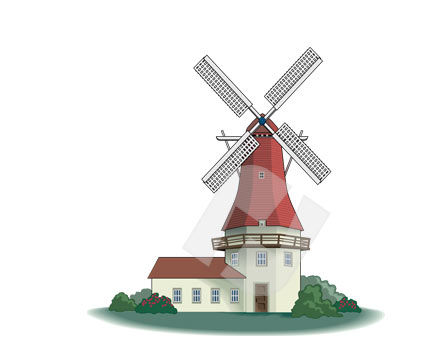 Industry Essentials: Windmill Vector Clip Art #00276