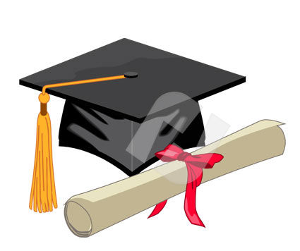 Education and Training: Mortarboard  and Diploma Vector Clip Art #00277