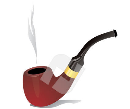 Smoking Pipe Vector Clip Art