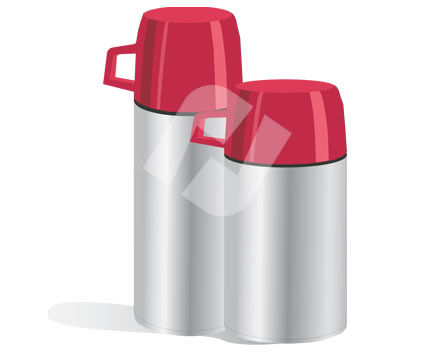 Objects and Equipment: Thermosflasche Clip Art #00283