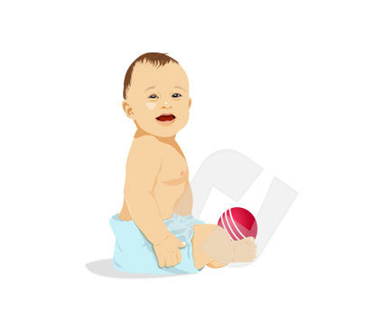 People: Baby Vector Clip Art #00286