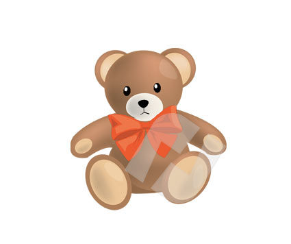 Holiday/Special Occasion: Teddy Bear Vector Clip Art #00289