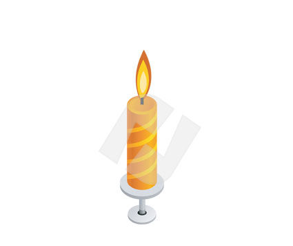 Holiday/Special Occasion: Holiday Candle Vector Clip Art #00291