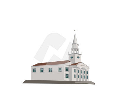 Construction: Church Vector Clip Art #00295