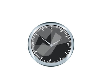 Objects and Equipment: Clock Face Vector Clip Art #00297