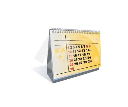 Business and Office: Table Calendar Vector Clip Art #00298