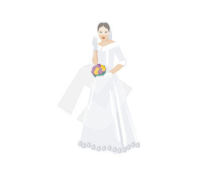 People: Bride Vector Clip Art #00300