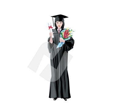 Graduator Vector Clip Art, 00302, Education and Training — PoweredTemplate.com