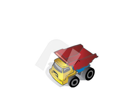 Toy Lorry Vector Clip Art, 00303, Industry Essentials — PoweredTemplate.com