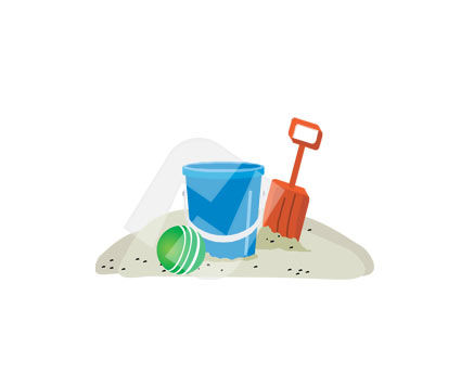 Education and Training: Baby Toy SandBox Vector Clip Art #00304