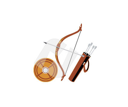 Sports: Archery Vector Clip Art #00305