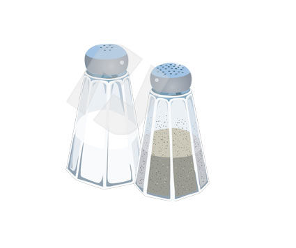 Food & Beverage: Salt-cellar Vector Clip Art #00306
