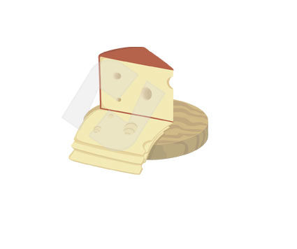 Food & Beverage: Cheese Vector Clip Art #00307