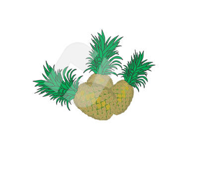 Ananas Vector Clip Art, 00309, Food & Beverage — PoweredTemplate.com