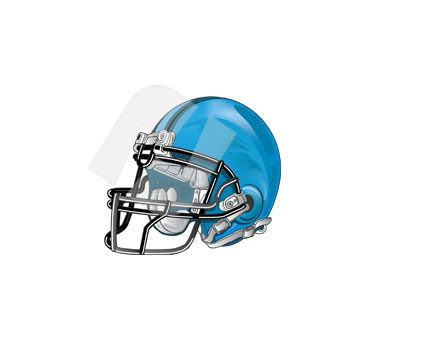 Sports: Football Helmet Vector Clip Art #00310