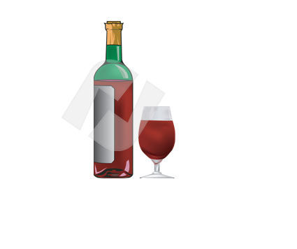 Food & Beverage: Wein Clip Art #00312