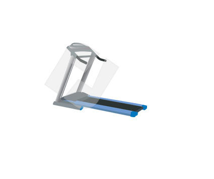 Objects and Equipment: Treadmill Vector Clip Art #00313
