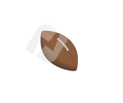 Sports: Rugby Football Vector Clip Art #00319