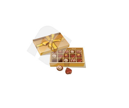 Holiday/Special Occasion: Box of Sweets Vector Clip Art #00322