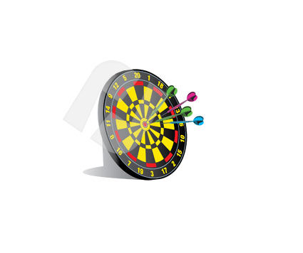 Sports: Darts Vector Clip Art #00324