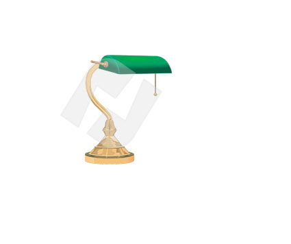 Housing & Interior: Table Lamp Vector Clip Art #00326