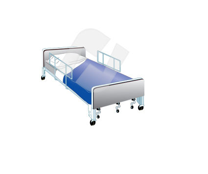 Medical Bed Vector Clip Art, 00329, Medical — PoweredTemplate.com