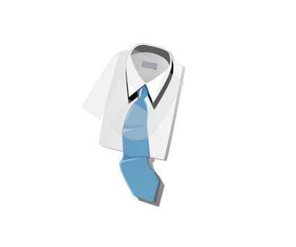Shirt and Cravat Vector Clip Art, 00331, Business and Office — PoweredTemplate.com