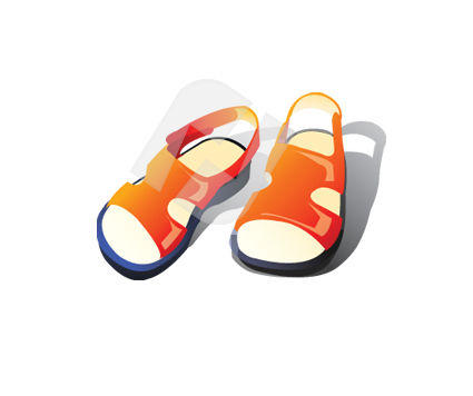 Carrot Sandals Vector Clip Art