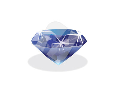 Diamond Vector Clip Art, 00335, Objects and Equipment — PoweredTemplate.com
