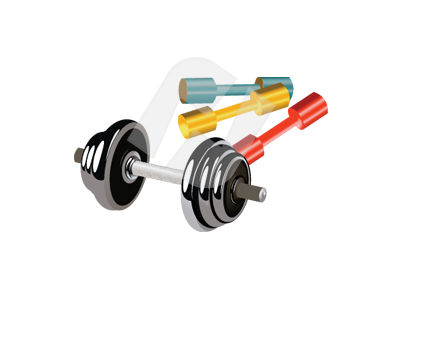 Dumbbells Vector Clip Art, 00337, Sports — PoweredTemplate.com