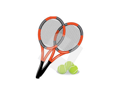 Sports: Lawn Tennis Inventory Vector Clip Art #00339