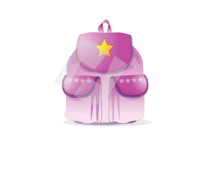 Education and Training: Knapsack Vector Clip Art #00341
