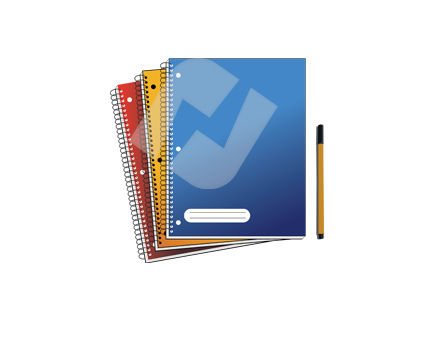 Education and Training: Notebooks and Pencil Vector Clip Art #00343