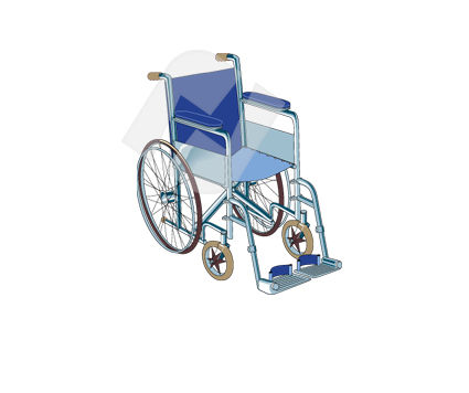 Medical: Wheelchair Vector Clip Art #00344