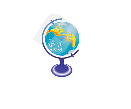 Education and Training: Terrestrial Globe Vector Clip Art #00346