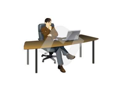 Business and Office: Cheaf Vector Clip Art #00350