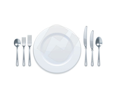 Objects and Equipment: Clip Art Peralatan Makan #00351