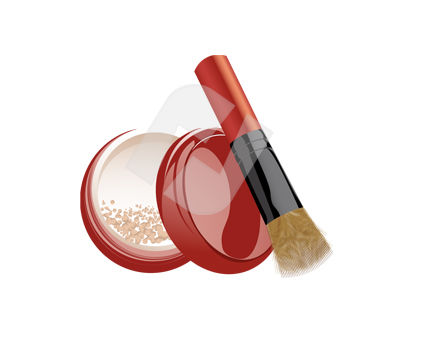 Objects and Equipment: Powder Case Vector Clip Art #00352