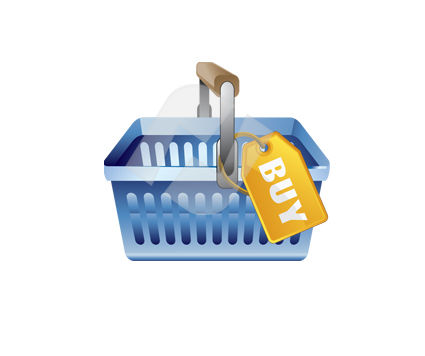 Industry Essentials: Buy Basket Vector Clip Art #00353