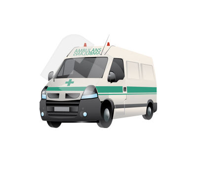 Medical: Ambulance Vector Clip Art #00354