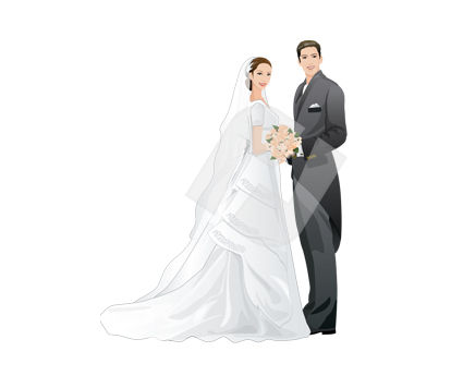 People: Just Merried Vector Clip Art #00355