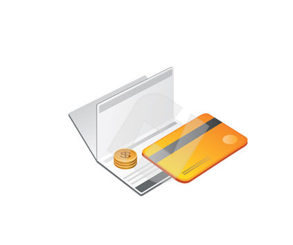Business and Office: Credit Card Vector Clip Art #00359