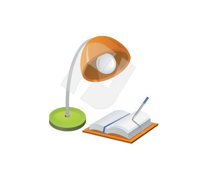 Reading Lamp Vector Clip Art, 00360, Housing & Interior — PoweredTemplate.com