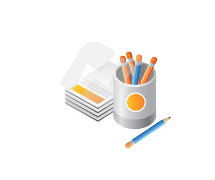 Stationery Vector Clip Art, 00362, Education and Training — PoweredTemplate.com
